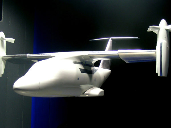 ERICA tiltrotor force model (in airplane mode)