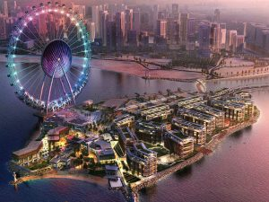 The Dubai eye giant observation wheel spoke cables dynamics