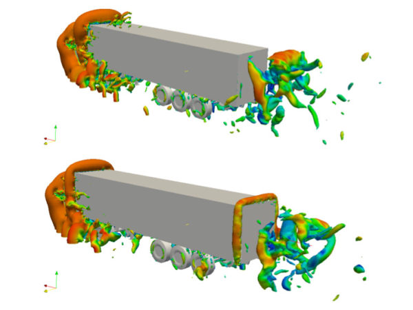 Drag optimization of heavy duty truck