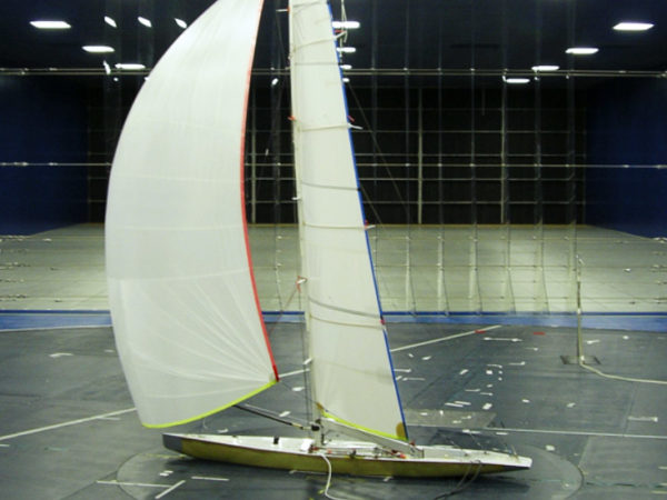 Sails optimization for an America's cup yacht